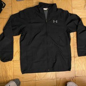 Under armour zip up jacket mesh/windbreaker.